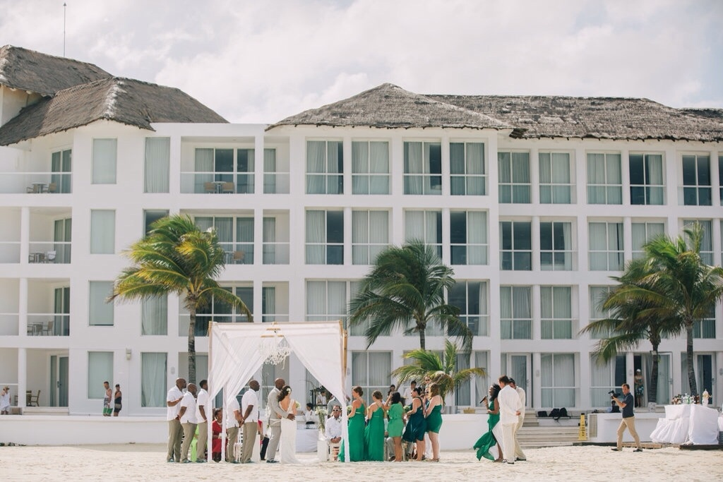 destination wedding party in tulum mexico