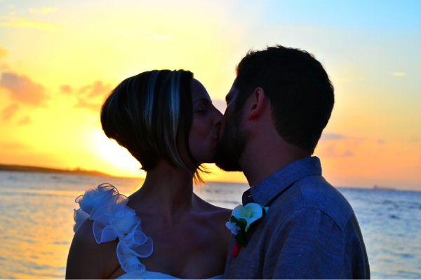 sunset wedding on the beach