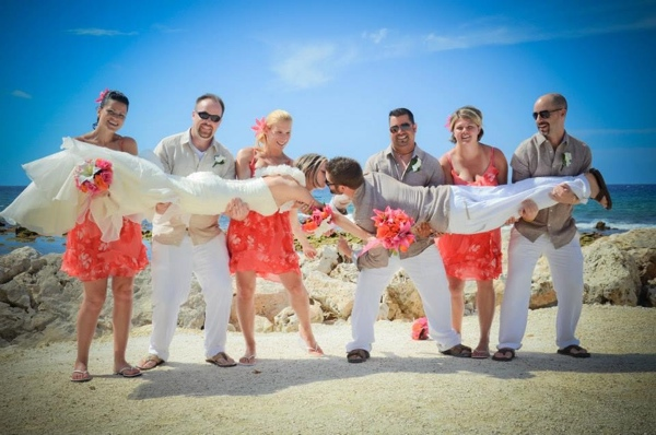 destination wedding party in jamaica
